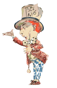 Mad Hatter tea party water color